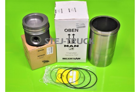 KIT, PISTON, ENGINE BUSHING, MAN, NEW, 51.02500-6356,51025006356